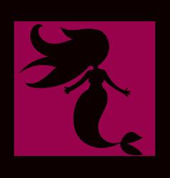 cartoon beautiful little mermaid in a wreath sea vector image