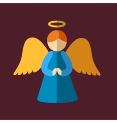 Christmas angel icon vector image
