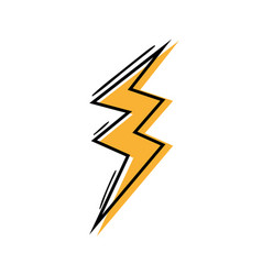 Color thunder symbol icon warning alert vector