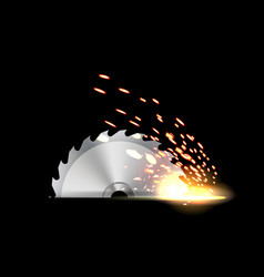 Creative of circular saw blade vector