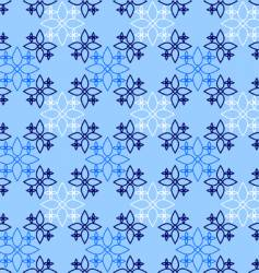 decorative blue pattern vector image