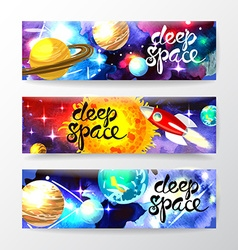 deep space vector image
