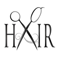 Design for hairstyle symbol vector