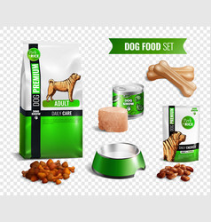 dog food transparent icon set vector image