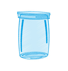 Drawing glass jar icon vector