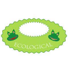 Eco-label vector