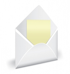 Envelope with letter vector