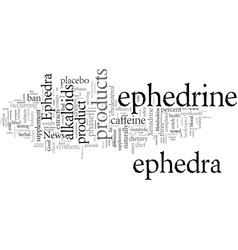 ephedra good news bad news vector image