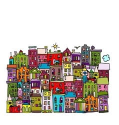 European city sketch for your design vector