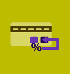 flat icon of bank card vector image