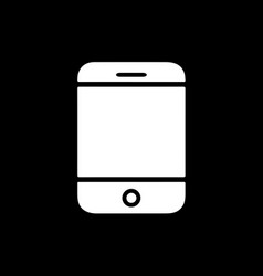 flat line mobile phone icon vector image