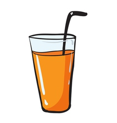 Glass and straw vector
