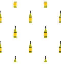 Glass bottle pattern seamless vector
