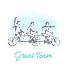 Great team poster and people vector