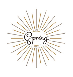 Happy spring time vector