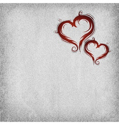 heart baroque red two background vector image