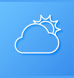 icon weather sun and cloud vector image
