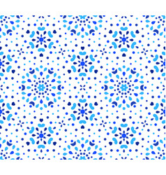 indigo dots blue flower pattern vector image