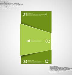 Infographic template with bar randomly divided to vector image vector image