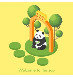 isometric of panda vector image