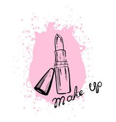 Lipstick makeup vector