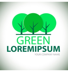 Logo green tree vector image