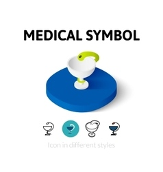 Medical symbol icon in different style vector