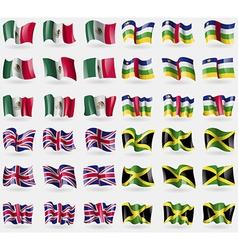Mexico Central African Republic United Kingdom vector