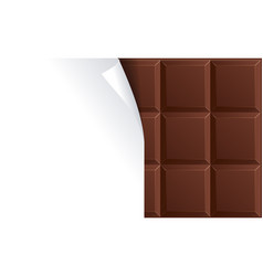 Milk chocolate package blank for advertizing vector