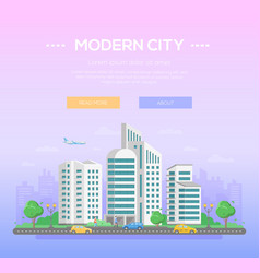 Modern city - colorful vector