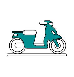 Motorcycle flat vector