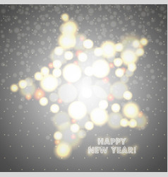 new year greeting card design star of glowing vector image