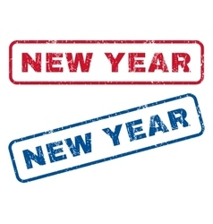 New Year Rubber Stamps vector
