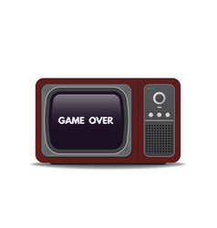 old style tv ang game over text vector image