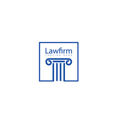 Pilar lawfirm logo with gold luxury icon element vector