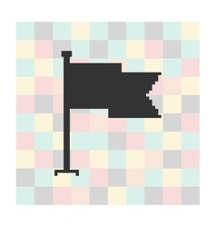 pixel icon flag on a square background vector image