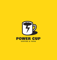 power cup logo vector image
