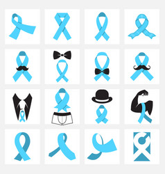 prostate cancer awareness symbols vector image