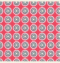 red and black floral geometric seamless vector image