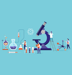 research and development medication in a vector image