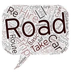 Route By Car text background wordcloud concept vector image
