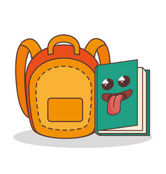 school elements funny characters vector image