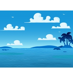 Sea Landscape Background vector image