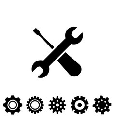 service tool icons with spanner vector image