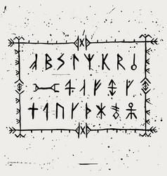 Set icelandic runes vector