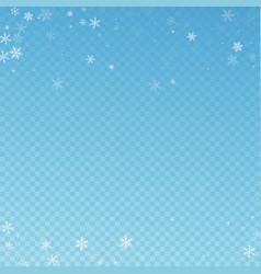 sparse snowfall christmas background subtle flyin vector image