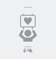 Supporters of love - web icon vector
