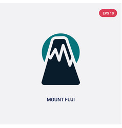 Two color mount fuji icon from maps and flags vector