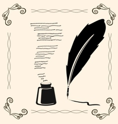 Vintage writing vector