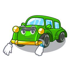 Waiting classic car toys in cartoon shape vector